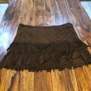 Dresses & Skirts - Faux suede fringe skirt